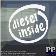 1 x Diesel Inside-Window,Car,Van,Sticker,Sign,Vehicle,Adhesive,Turbo,Race,Petrol